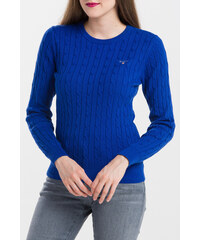 11cfa04becf5 Modrý dámsky sveter s výstrihom do V GANT - Glami.sk