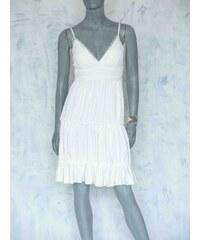 Bílé šaty s mašlí s dopravou zdarma - Glami.cz 6c95690a84