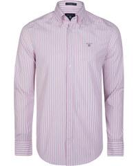 0bffb718ee87 Ružovo-biela košeľa z prémiovej Nórskej bavlny od Gant