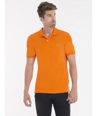 Oranžová elegantní polokošile od Lacoste f79962768b