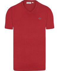 4ed1b4e50f6 Červené elegantní tričko od Lacoste