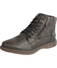 MUSTANG Šněrovací boty tmavě šedá a75dc617c9