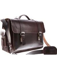 VOOC Velká kožená taška s možností nošení jako batoh Vintage P23 hnědá e198f197e2