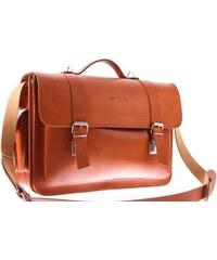 VOOC Velká kožená taška s možností nošení jako batoh Vintage P23 koňak cc67fe956b