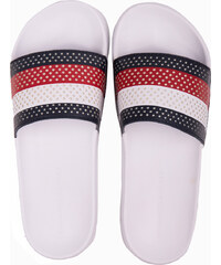 Tommy Hilfiger pánské barevné pantofle Hilfiger Pool Slide White - 41 5546506175