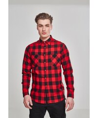 9d1f4fd64ad4 Urban Classics Checked Flanell Shirt blk red