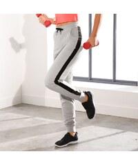 9a29f837a79 Blancheporte Dvojfarebné športové nohavice sivý melír čierna