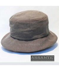Hnědý elegantní dámský klobouk Assante 82919 147935f0f0