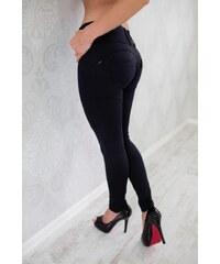 ATAS SPORTSWEAR Leg-Jeans 2v1 PUSH-UP vysoký pas ATAS černé 80e3b23c14