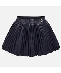 MAYORAL dívčí skládaná sukně koženka tmavě modrá 60fea247c6