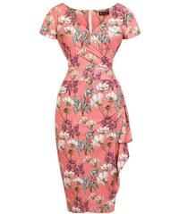 1b289a3e1536 Broskvové šaty s lučními květy Lady V London Elsie