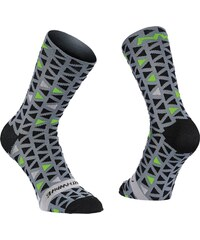 Northwave Triangle pánské ponožky Black Green Fluo e1cbaa62cf