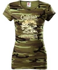 Myshirt.cz California Beach - Dámské maskáčové triko 309b1144ff