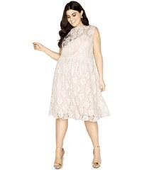 LITTLE MISTRESS Čipkované midi šaty s kvetinovou aplikáciou 62b89ada75