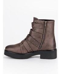 3c9410d0686 CORINA Stylové kotníkové boty s přezkami