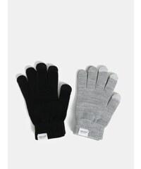 Sada dvou párů rukavic v šedé a černé barvě VERO MODA Vilde 4e1edb2787