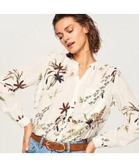 9af4e7e812a Reserved - Košile s květinovým vzorem - Krémová