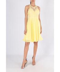 dfedb03a984 PINK Společenské Šaty LISA žluté