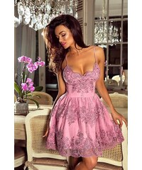 EMO Dámské krajkové šaty Victoria růžová 34 d4fc812f37