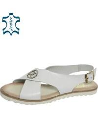 998568d7a2e7 ... tvare listu DSA051. Detail produktu. OLIVIA SHOES Biele nízke pohodlné  dámske sandále DSA023