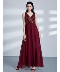 Dámské luxusní plesové šaty Ever Pretty bordó 7346 1c657608ee4