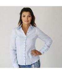 5c30b43b4db Willsoor Světle modrá dámská košile 9571