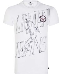 f1d7cbda9622 Emporio Armani Biele prémiové tričko od Armani Jeans