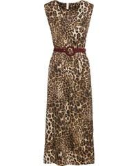 BODYFLIRT boutique Bonprix - robe d été Robe léopard marron sans manches  pour femme dd36073c6165