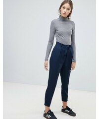 04cce2f5a293 ASOS DESIGN Woven Peg Trousers with Obi Tie - Navy