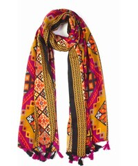 Y-wu Dámský dlouhý šátek BOHO s třásněmi 180 90 8c2df0b02f