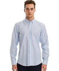 Tmavě modré pánské košile s výšivkou - Glami.cz 73ee942170