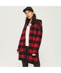 Sinsay - Kabát s kapucňou - Červená 40ad907d383