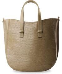 World-Style.cz Módní kabelka shopper bag děrovaná přední strana hnědá ceb33b35b68