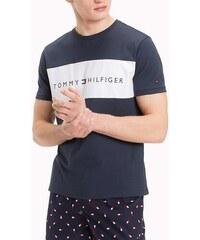 bbd16d14e37 Tommy Hilfiger tmavě modré pánské tričko s bílým logem - XL