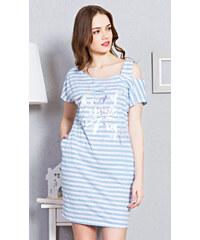 b139273871bc Vienetta Dámske domáce šaty s krátkym rukávom Karolína