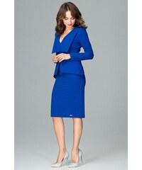 5fa19472a3d8 Elegantní šaty s klopami Lenitif K491 modré