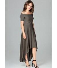 7abb04e06731 Glamor Krátke spoločenské šaty s čipkovaným kabátikom modrozelenej ...