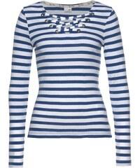 fdfe06b9b5c KangaROOS Tričko s dlouhým rukávem královská modř-bílá-s proužky