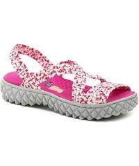 98e84e46945 Rock Spring Sandály MAREA White Fuchsia dámské gumičkové sandály Rock Spring