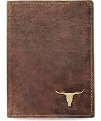 World-Style.cz Stylová pánská peněženka buffalo starší vzhled přírodní kůže  rfid – hnědá 97d5f325c60