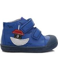 Ponte 20 Chlapčenské kožené topánky s lodičkou - modré 107340922e4