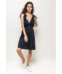 Rouzit Čierne mini šaty na ramienka so strapcami - Glami.sk 89430242a2e