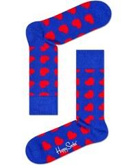 f198995cf83 Ponožky Happy Socks Diagonal Heart modré červené farebné veselé vzorované
