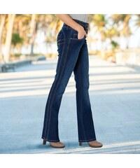 Blancheporte Tvarující džíny s efektem zeštíhlení a plochého bříška tmavě  modrá b12a6863ee