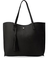 World-Style.cz Módní dámská kabelka shopper s třásněmi černá e9b203fd7d