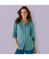 Blancheporte Košile s puntíky ledová modrá 7cb8b717f0