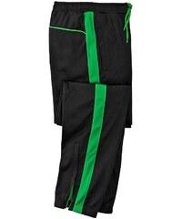Blancheporte Športové nohavice z česaného mikrovlákna zelená čierna 6026c12a23d