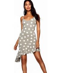 BOOHOO Asymetrické midi šaty s volánkovou sukní 9b700b8c8e