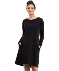 55b1859013d3 BE wear Čierne šaty B012