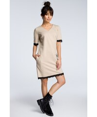 62e1a1f5b3b1 BE wear Béžové šaty B077